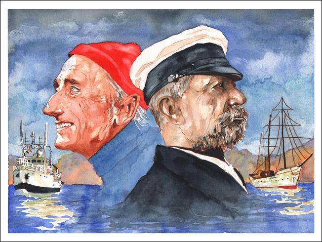 Jacques-Yves Cousteau por laurari